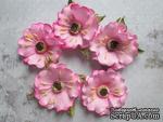 Дикий мак из фоамирана,  диаметр 5 см, цвет розовый, 1 шт. - ScrapUA.com