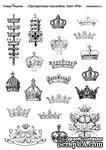 Лист прозрачных наклеек от Тамары Старцевой-№4 (короны) - ScrapUA.com