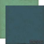 Лист двусторонней бумаги от Echo Park - Navy/Teal, Times & Seasons, 30x30 см - ScrapUA.com