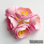 Цветы яблони, 5 штук, диаметр 18-20мм,  цвет - розовый - ScrapUA.com