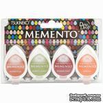 Набор чернил для штампинга Tsukineko - Memento Dew Drops - Meadowland, 4 шт. - ScrapUA.com