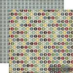 Двусторонний лист бумаги от Echo Park - Times and Seasons 2 - Number Circles, 30,5x30,5см - ScrapUA.com