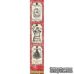 Полоска бумаги UHK Gallery - Ho Ho Holmes, красный фон, размер 30х5.5 см - ScrapUA.com