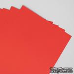 Двусторонний лист бумаги, цвет красный, размер А4, 120гр/м.кв - ScrapUA.com