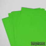 Двусторонний лист бумаги, цвет зеленый, размер А4, 120гр/м.кв - ScrapUA.com