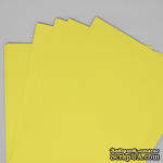 Двусторонний лист бумаги, цвет лимонный, размер А4, 120гр/м.кв - ScrapUA.com