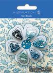 Набор брадсов от URSUS, размер 3 мм, цвет: оттенки синего, 120 шт. - ScrapUA.com