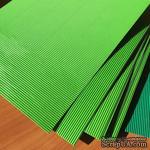 Картон гофрированный мелкий,  плотность 300г, размер 20х30см, цвет светло-зеленый - ScrapUA.com