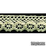 Кружево вязаное, цвет бежевый, ширина 28 мм, длина 90 см - ScrapUA.com