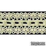 Кружево вязаное, цвет белый, ширина 50 мм, длина 90 см - ScrapUA.com