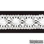 Кружево вязаное, цвет белый, ширина 26 мм, длина 90 см - ScrapUA.com