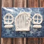 Набор пластиковых украшений: дверь и окошки от Е.В.A, см - ScrapUA.com