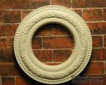 Гипсовое украшение от Е.В.А. - Круглая рамка, диаметр - 3,5см - ScrapUA.com
