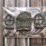Набор пластиковых украшений: дверь и окошки под античное золото от Е.В.A, см - ScrapUA.com