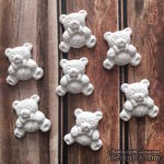 Гипсовое украшение - мишка от Е.В.A, 2х2см - ScrapUA.com