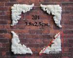 Пластиковые уголочки от Е.В.A, 4х2,5 см, 4 шт. - ScrapUA.com