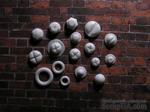 Пластиковое украшение от Е.В.A - Набор болтиков, 17 шт. - ScrapUA.com