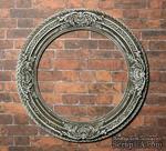Гипсовая круглая рамочка с патинированием от Е.В.А., 7.2 см - ScrapUA.com