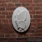 "Гипсовая камея ""Бабочка"" от Е.В.А, 3,8х2,8см - ScrapUA.com"