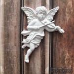 Гипсовое украшение от Е.В.A - Ангел со скрипкой, 7.1 см - ScrapUA.com