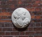 "Гипсовая камея ""Дама с розой"" от Е.В.А, 2,8см - ScrapUA.com"