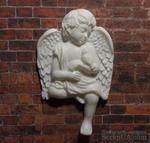 Пластиковый ангел с птичкой от Е.В.А, 7х4,3см - ScrapUA.com