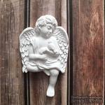 Гипсовое украшение - Ангел с птичкой от Е.В.A, 4.2х6.7см - ScrapUA.com