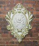 Гипсовый декор от Е.В.A - Камея с позолотой, 5х7 см, 1 шт. - ScrapUA.com