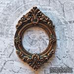 Гипсовая рамочка круглая под бронзу от Е.В.A, 8,7х5,7см, 1 шт. - ScrapUA.com