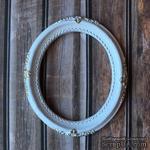 Гипсовая большая рамка, белая с золотом от Е.В.A, 9,6 см, 1 шт. - ScrapUA.com