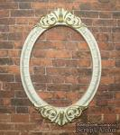 Гипсовая рамка, белая с золотом, от Е.В.A, 8,5х5,8 см, 1 шт. - ScrapUA.com