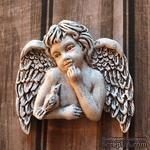 """Гипсовое украшение """"Ангел с птичкой"""", с патенированием, от Е.В.A, 5х5см, 1 шт. - ScrapUA.com"""