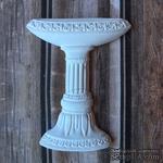 """Гипсовое украшение от Е.В.A -  """"Фонтан на постаменте"""", белый, 6 см, 1 шт. - ScrapUA.com"""