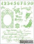 """Набор акриловых штампов от Viva-decor """"Happy Birthday"""", размер 14 x 18 см, 1 шт. - ScrapUA.com"""