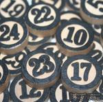 Набор украшений от Maya Road - Wood Bingo Calendar Numbers (адвент календарь), цвет черный, 31 шт. - ScrapUA.com