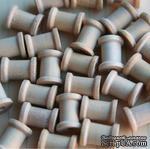 Деревянная катушка от Maya Road - Wood Mini Spools, размеры: 1см диаметр, высота 1.3см, 1 шт. - ScrapUA.com