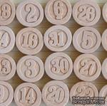 Деревянные цифры от Maya Road - Calendar Numbers, 31 шт. - ScrapUA.com