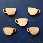 Деревянная фигурка WOOD-017 - Чашка, 1 штука - ScrapUA.com