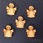 Деревянная фигурка WOOD-051 - Ангел с кудряшками, 1 штука - ScrapUA.com