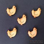 Деревянная фигурка WOOD-052 - Курочка, 1 штука - ScrapUA.com