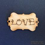 Деревянная фигурка WOOD-061 - Love, 1 штука - ScrapUA.com