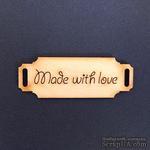 Деревянная фигурка WOOD-063 - Made with Love 2, 1 штука - ScrapUA.com