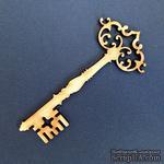 Деревянная фигурка WOOD-066 - Старинный ключ, 1 штука - ScrapUA.com
