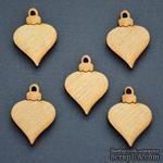 Деревянная фигурка WOOD-070 - Елочная игрушка, 1 штука - ScrapUA.com
