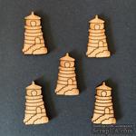 Деревянная фигурка WOOD-113 - Маяк, 1 штука - ScrapUA.com