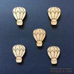 Деревянная фигурка WOOD-114 - Воздушный шар, 1 штука - ScrapUA.com