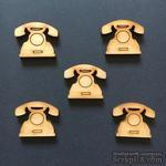 Деревянная фигурка WOOD-121 - Телефон, 1 штука - ScrapUA.com