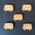 Деревянная фигурка WOOD-131 - Автобус, 1 штука - ScrapUA.com