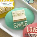Украшение Webster's Pages - Smile, цвет бирюзовый, 10 штук - ScrapUA.com