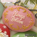 Украшение Webster's Pages - Always Believe, цвет розовый, 1 штука - ScrapUA.com